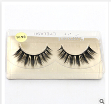 8A16/100%Supernatural Lifelike handmade false eyelash 3D strip mink lashes thick fake faux eyelashes Makeup beauty(China (Mainland))