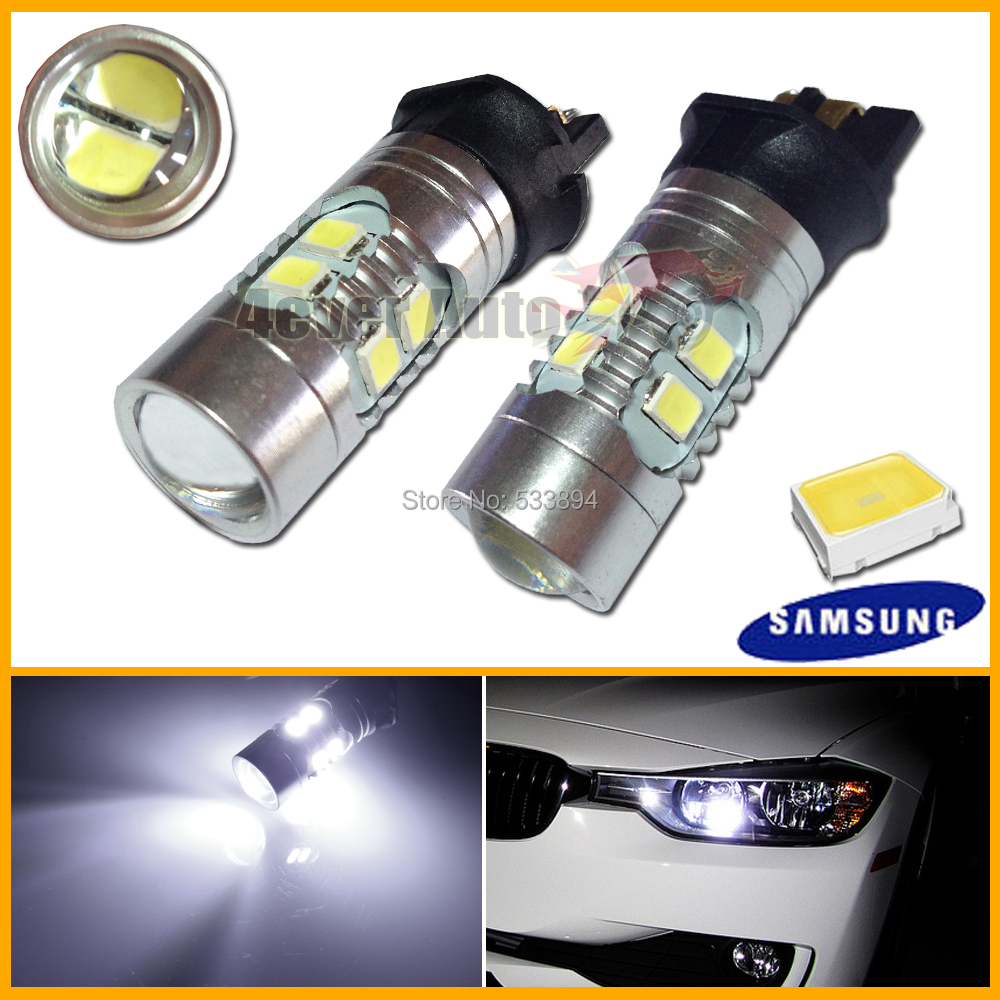 Error Free Canbus PWY24W PW24W LED Bulbs For A3 A4 A5 Q3 VW MK7 Golf CC Ford Fusion Front Turn Signal Lights, F30 3 Series DRL(China (Mainland))