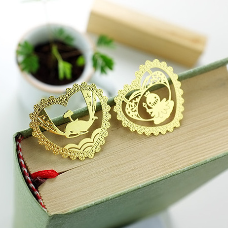 Mu light new creative gifts 6 original design aesthetic hollow lace custom metal bookmarks MG<br><br>Aliexpress