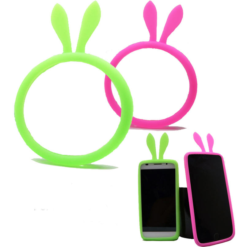 For Nokia 4.5 to 5.5 inch lovely Bunny Rabbit Ears Silicone Frame Bumper Case Cover For Nokia XL lumia 535 625 630 730 830 920(China (Mainland))