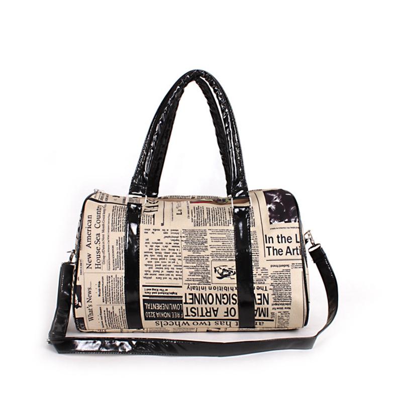Vintage Newspaper Printing Women Pillow Handbag Simple Big Tote Large Capacity Shoulder Messenger Bag Female Bolsas Feminina(China (Mainland))
