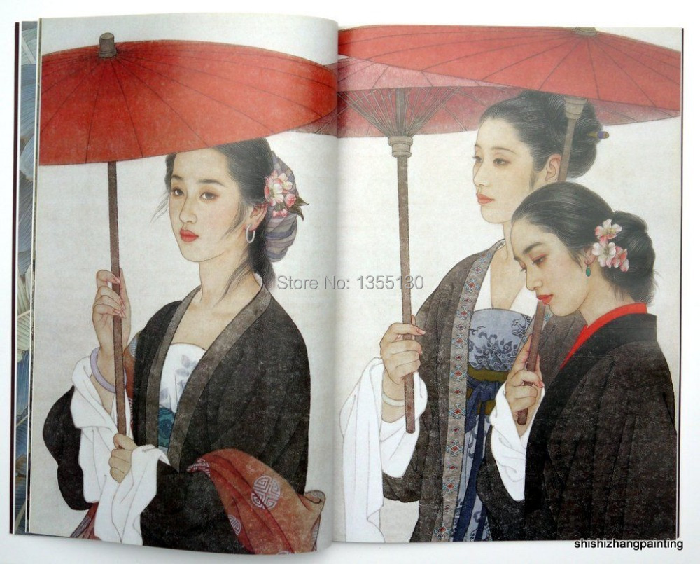 Chinese painting book Wang meifang Zhao guojing girl lady belle gongbi brush art <br><br>Aliexpress