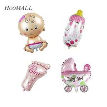 Hoomall Brand 4PCs/lot Angel Baby Shower Foil Balloons Baby Boy Girl Birthday Party Decorations Baby Shower Balloons 40cm Length(China (Mainland))