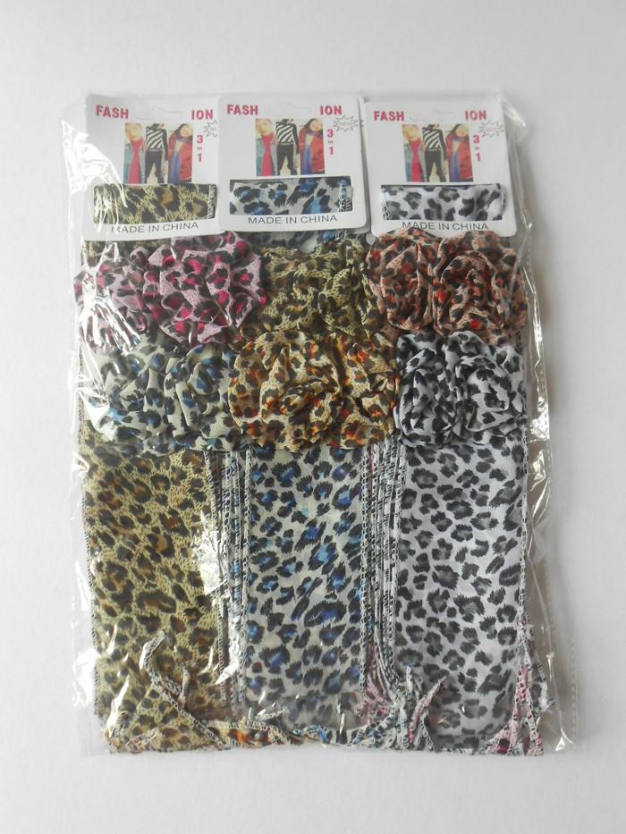 60/PCS Fashion decoration magic chiffon scarf hair band hair accessory multifunction headband flower hair clip(China (Mainland))