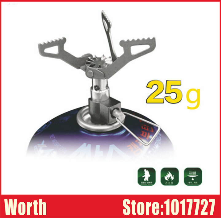 Brand New Powerful Lightweight Titanium Alloy Outdoor Tripod Cooker Burner Camping Gas Stove - WORTH CO., LTD store