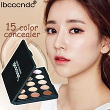 Ibcccndc Professional 15 Colors Concealer Palette Facial Face Primer Cream Camouflage Makeup Base Contour Palettes Cosmetics