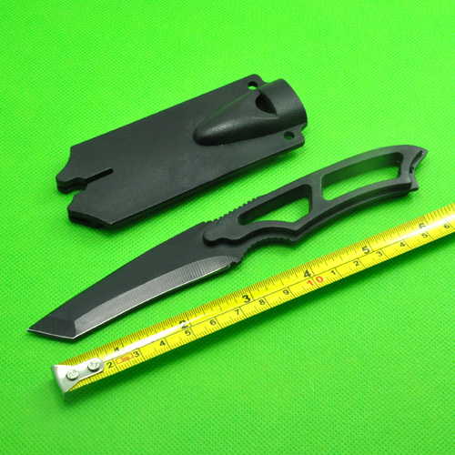 3pcs/lot, Black Survival Knife SW SW990 Sentinel Steel Knife (Whistle Knife) Hunting Free Shipping(China (Mainland))