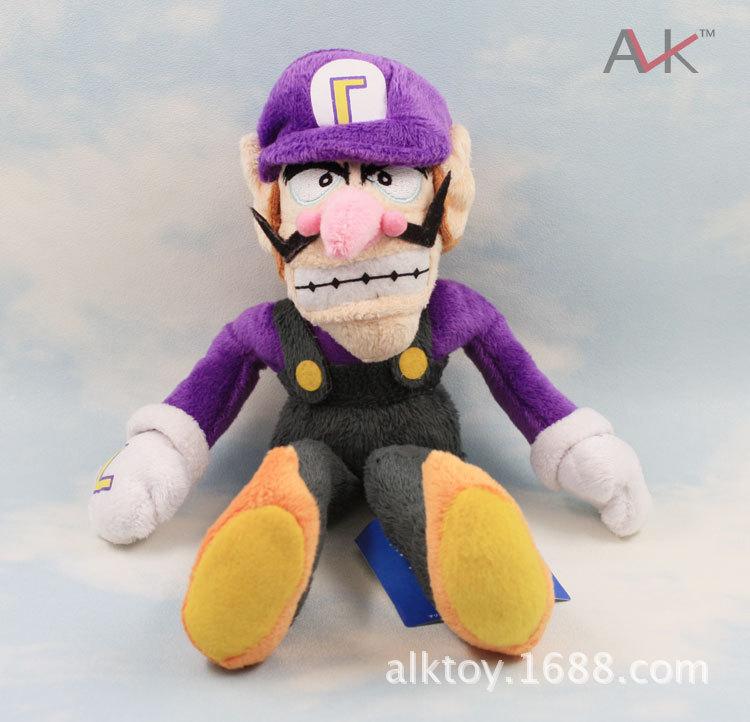 Super Mario Bros Waluigi Plush Toys 28cm Soft Dolls For Children PLA720 Retail 1pcs(China (Mainland))