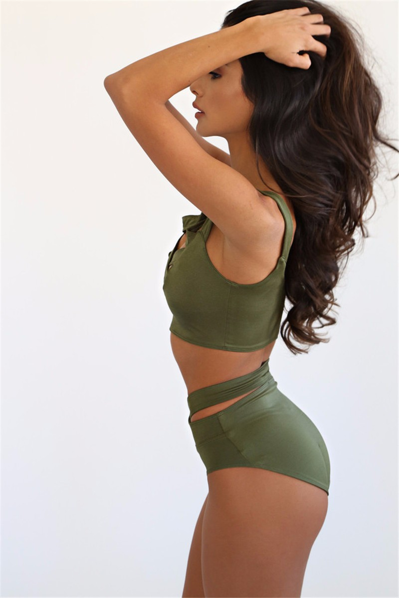 sexy female sleeveless cross chest tops and shorts 2 pcs sets 2016 High Waist Sexy Ladies 2 pieces set