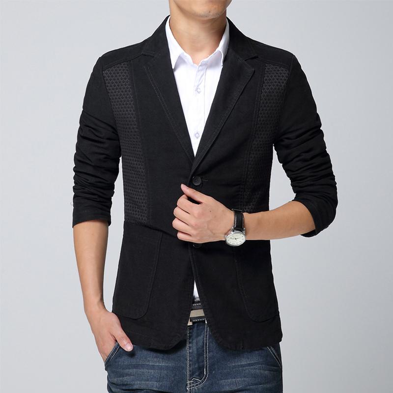 HOT SALE 2015 Spring & Autumn New Fashion Brand Casual Men Blazer Trend Men Slim Fit Cotton Suit Jacket Stylish Men Suit Men(China (Mainland))