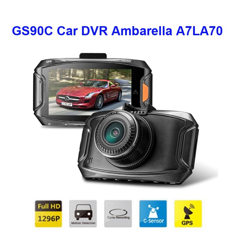 Free Shipping!! Oringinal GS90C Car DVR Ambarella A7LA70 2304*1296P 30fps 2.7Inch LCD 170 Wide Angles+G-Sensor+GPS Dash Cam<br><br>Aliexpress