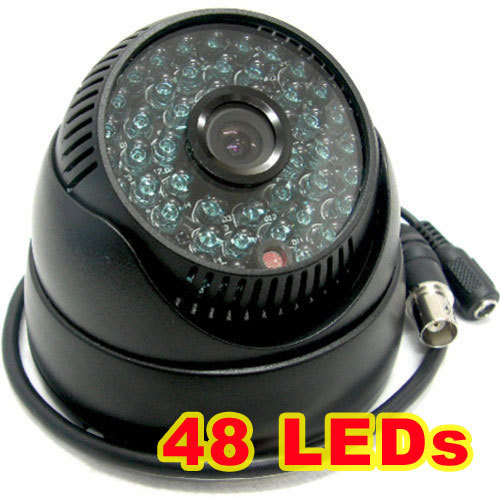 1/3 Sony CCD IR Color CCTV Dome Security Wide Angle Camera view 92degress 48 LEDs<br><br>Aliexpress