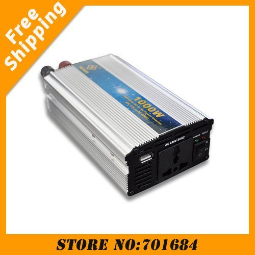 220V 1000W Modified Sine Wave USB Mobile Car Power Inverter DC to AC [CAR16]