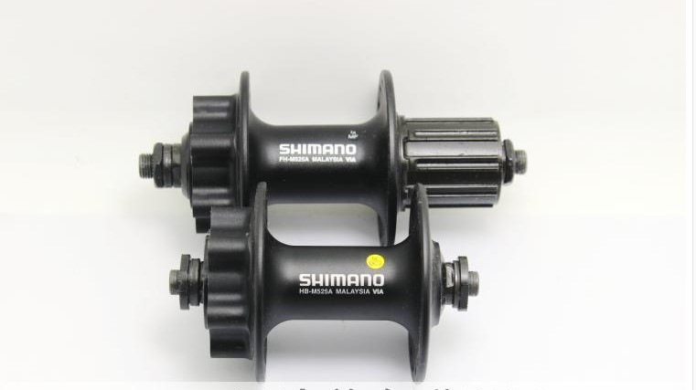 Shimano HB-M525A FH-M525A 32h Front /& Rear 6-Bolt Disc Hub Black One Set