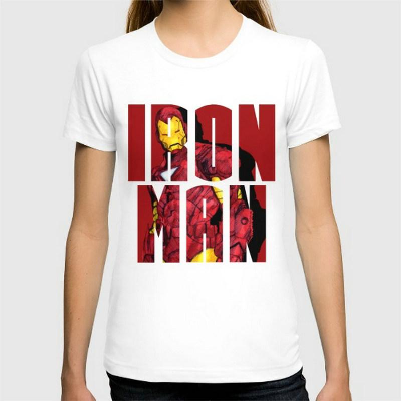 I am Iron Man New women's T-shirts Short Sleeve Cotton women t shirts Clothing Wholesale(China (Mainland))