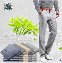 HOT SALE  Free shipping!Men summer linen Casual pants Stretch Flax cotton casual trousers 29-38 5 colors(China (Mainland))