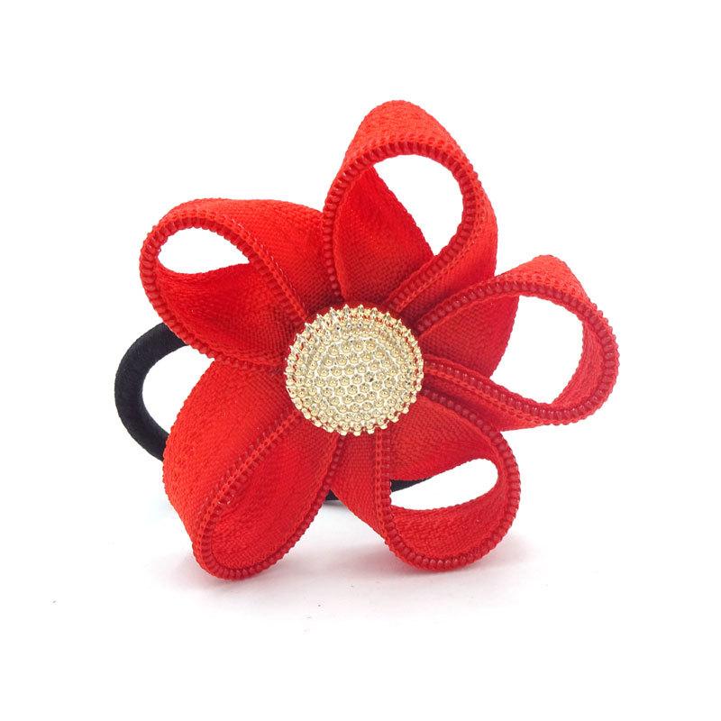 10Pcs Girls Hair Accessories Zipper Flower Headpiece Flores Hair Bands Accessori Per I Capelli Tiara De Cabelo Infantil(China (Mainland))