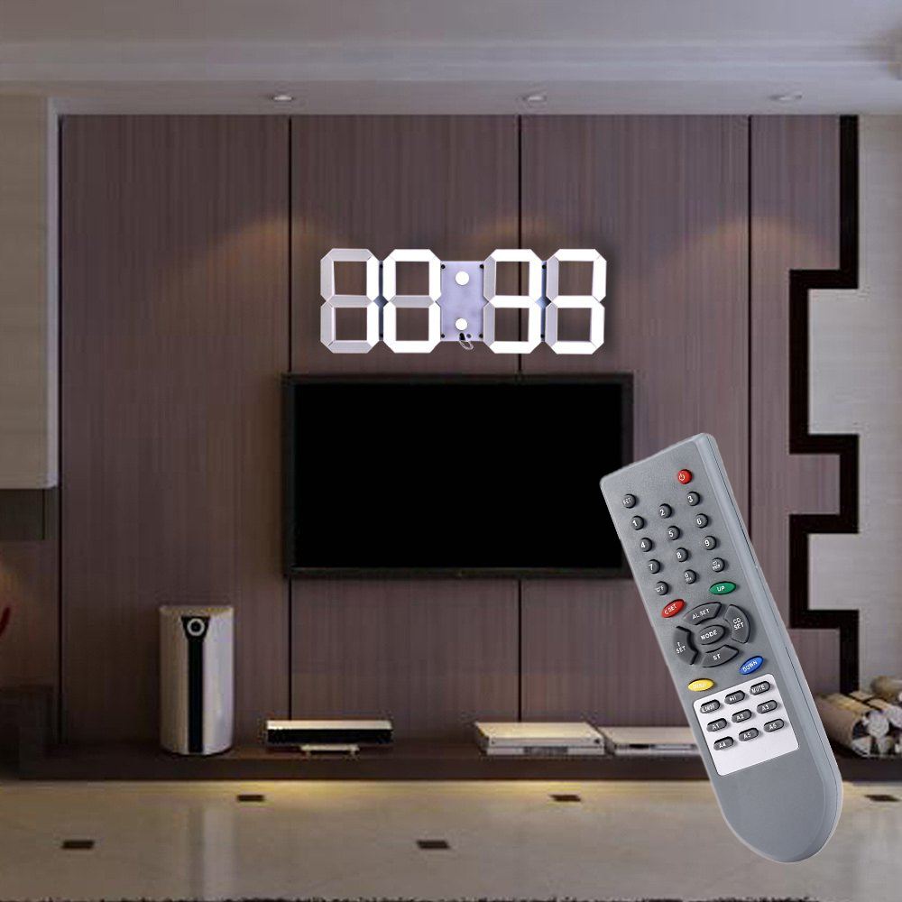 Large Modern Design Digital Led Wall Clock Big Creative Vintage Watch Home Decoration Decor Alarm Temperature 3d Good Gift - Itwell LED store