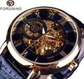 Forsining 3D Logo Engraving Watches Men Top Brand Luxury Gold Watch Men Mechanical Skeleton Watch Relogio