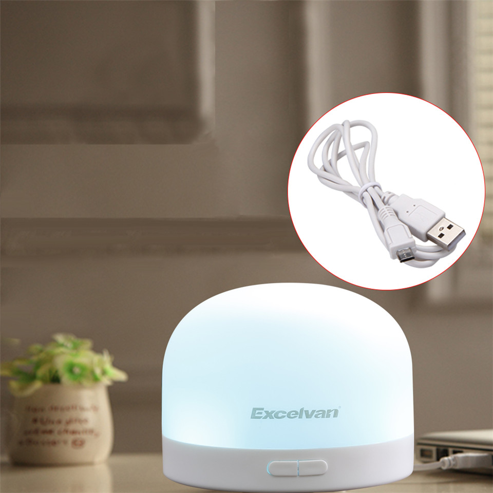 Excelvan Portable Car USB Mini Aroma Diffuser Essential Oil Diffuser Ultrasonic Humidifier Mist Maker For Car Home Office(China (Mainland))