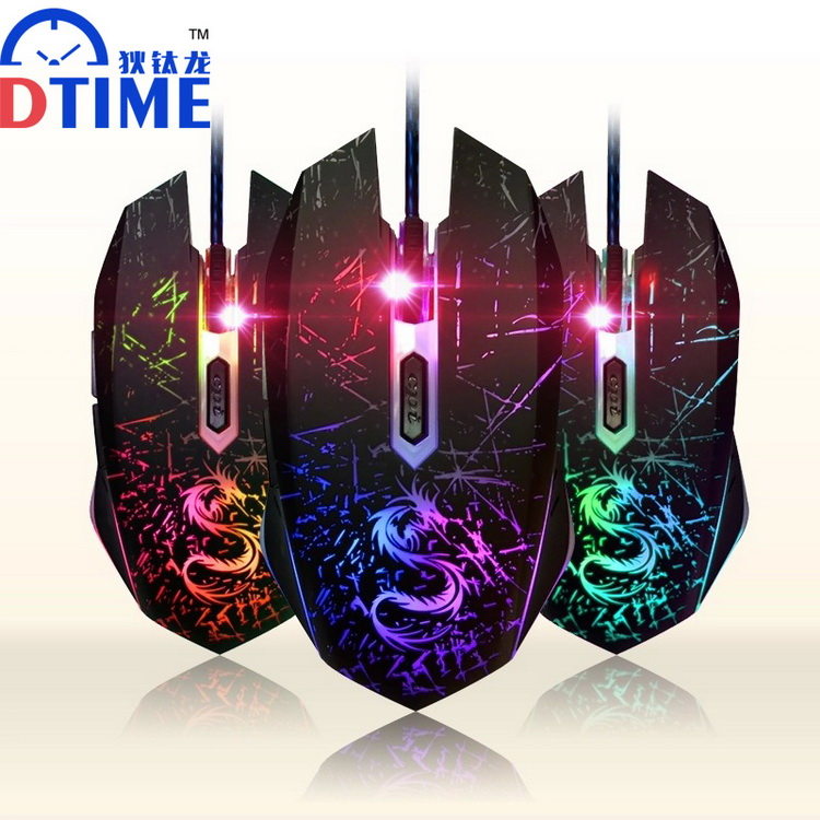 DTIME USB Optical Wired Game Gamer Games Gaming Mouse Mice Bloody X7 Fare Ranton for Computer PC Laptop Dota 2 LOL Deathadder(China (Mainland))