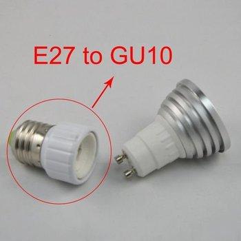 15pcs/lot,ABS Led Lamp Bases GU10 Socket,E27 to GU10 Adapter Converter Base holder socket for LED Light Led Lamp