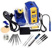 HAKKO FX-951 fx951 Digital Thermostatic Soldering Station/Solder Electric Soldering Iron 110V/220V+Welding wire+tweezer+iron tip(China (Mainland))