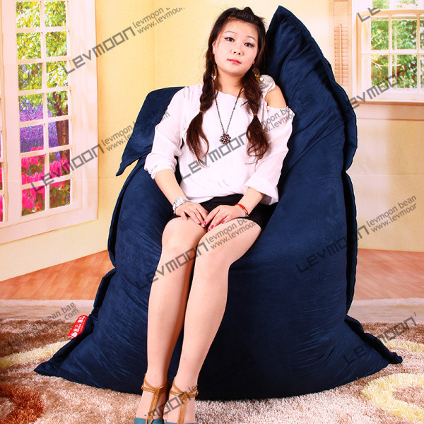 Фотография FREE SHIPPING 140*180CM blue bean bag  cover bean bag luxury suede bean bag chair  bean bag world