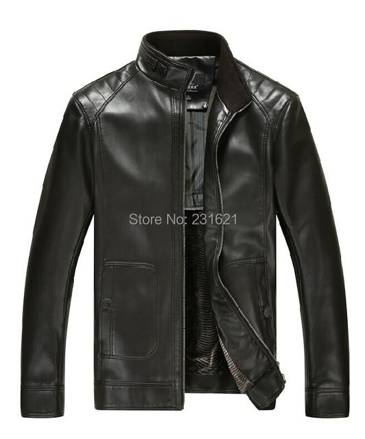 Осень и зима мужчины в натуральная кожа куртка овчина козёл кожа пальто ветровка черный коричневый tb109
