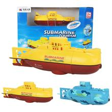 RC Water Boat 6CH Speedboat Model High Powered 3.7V Toy Boat Plastic Model Large RC Submarine Toys With USB Cable Blue Yellow(China (Mainland))
