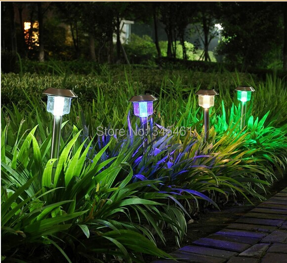 1X luminaria solar Led Lawn Lights Hot Sale exterior lampada solar NI-MH 1.2V 600MAH (Battery Included) solar lights for garden(China (Mainland))