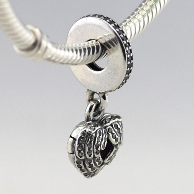 Осень стиль серебряные ювелирные изделия 925 ангельские крылья CZ мотаться бусины Fit пандора оригинальный подвески браслеты DIY ювелирных украшений