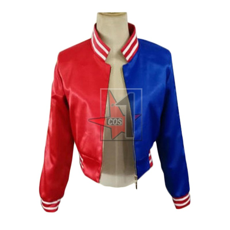 DC Comics Suicide Squad Harley Quinn Cosplay Costume Classic locomotive Jacket  Women Halloween Cos Outfits CN0821