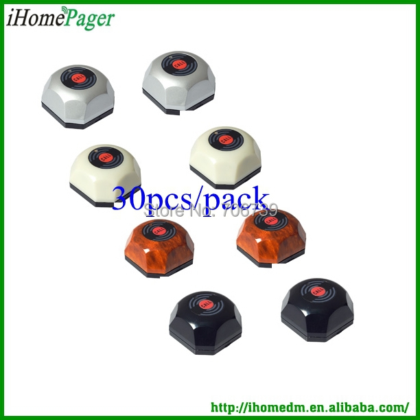 Hot sale hotel coffee house bar hot used wireless calling system waiter caller 50Buttons/pack strong signal