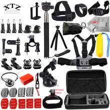 DSDACTION Gopro accessories set go pro kit mount tripod for SJCAM SJ4000 hero 5 4 3 camera case xiaomi yi eken h9 chest 12G(China (Mainland))