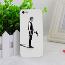 A2558 Starwars Hero Minimal Bw Transparent Hard Thin Case Cover Apple iPhone 4 4S 5 5S SE 5C 6 6S 6Plus 6s Plus - DREAMBIRD FACTORY store