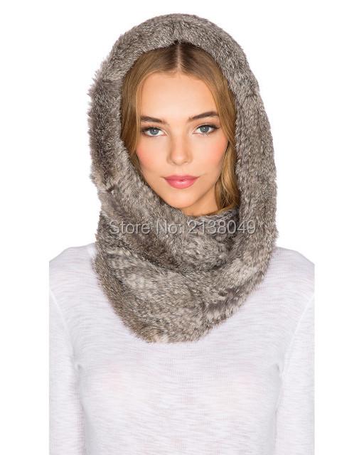 Fs020 150 * 20 см ручной вязки кролика кольцо шарф