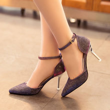 New Fashion Ladies High Heels Buckle Strap Women Pointed Toe Shoes Stiletto Gorgenous Ladies Shoes HR168