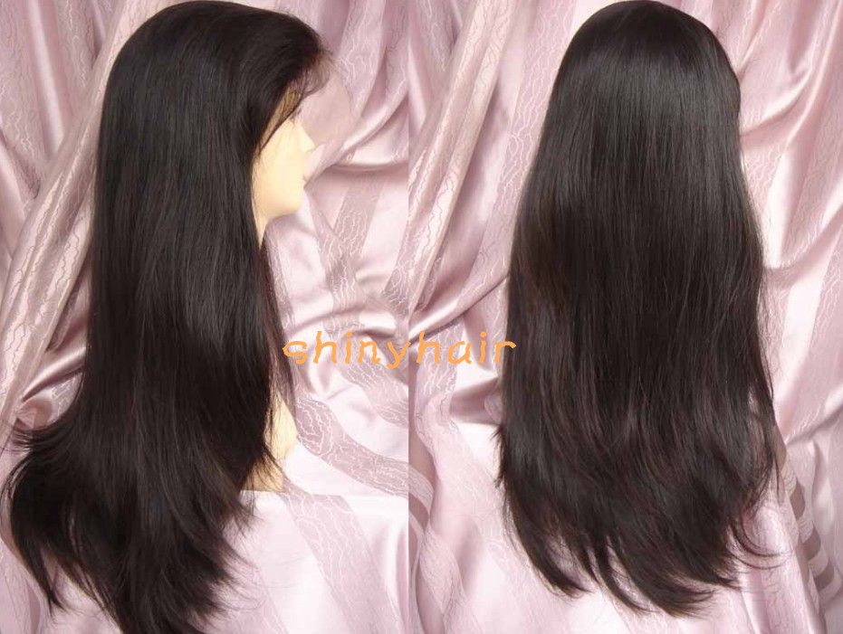 2013 Hot sell! natural look 16''-30'' vigin peruvian remy human hair full lace wig ,AAAAA quality stock - shiny store