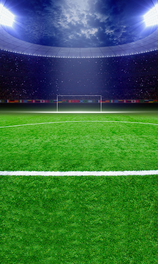 8x15FT Night Green Lawn Football Soccer Field Goal Audience Spotlight Photography Studio Backdrops Background Vinyl 5x10 8x12(China (Mainland))