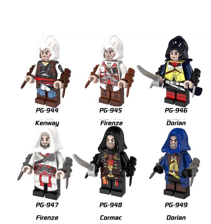 lele/bela/lepin/legoinglys figures original Brick Blocks toys city weapons accessories
