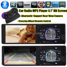 NEW 4.1 inch TFT HD Screen Car radio Mp5 bluetooth Player car Audio Support Rear Camera View SD/USB Car MP3 MP5 1 din in dash(China (Mainland))