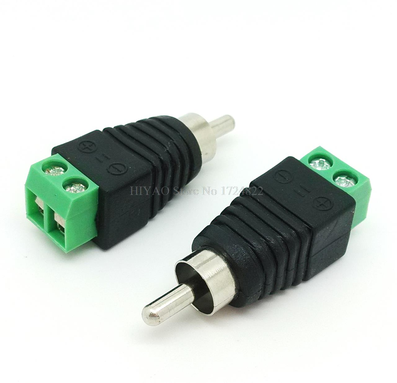 10pcs High Quality Brand New RCA / Phono Male Plug Balun Connector Cable Jack Free Shipping(China (Mainland))