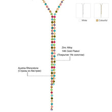 Neoglory MADE WITH SWAROVSKI ELEMENTS Rhinestone Colorful Long Bead Chain Necklaces Jewelry Accessories for Women 2015