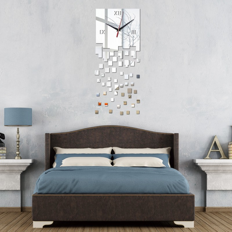 2016 Promotion Modern Wall Clocks Mirror Luxury Design Real Diy Watch 3d Crys
