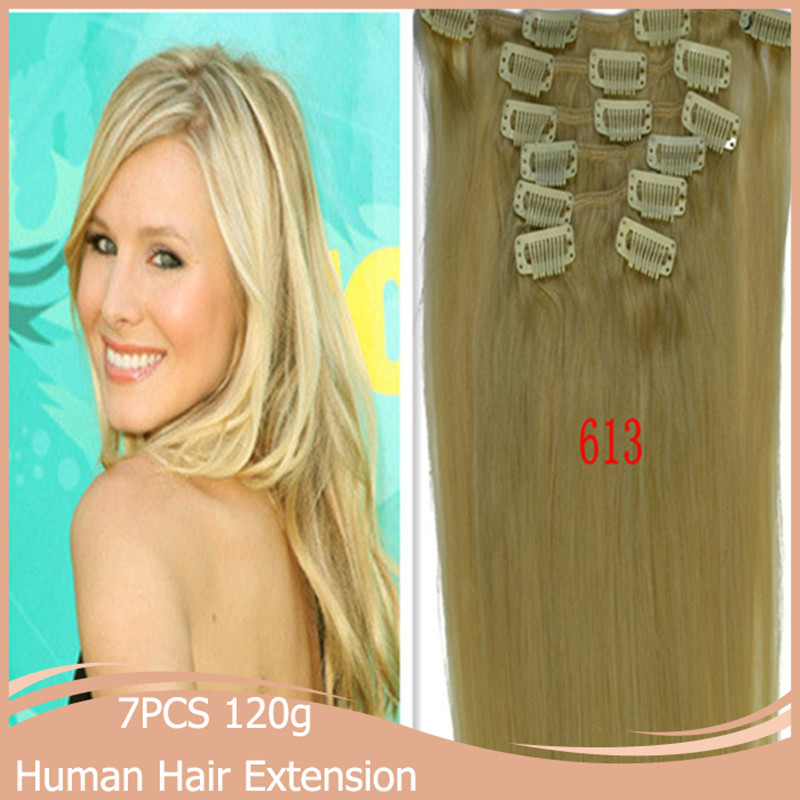 2628 120g 7pcs/set Womens Ladies Remy Straight Long Clip in Hair Extension Brazilian Hair Unprocessed 5colors Available<br><br>Aliexpress