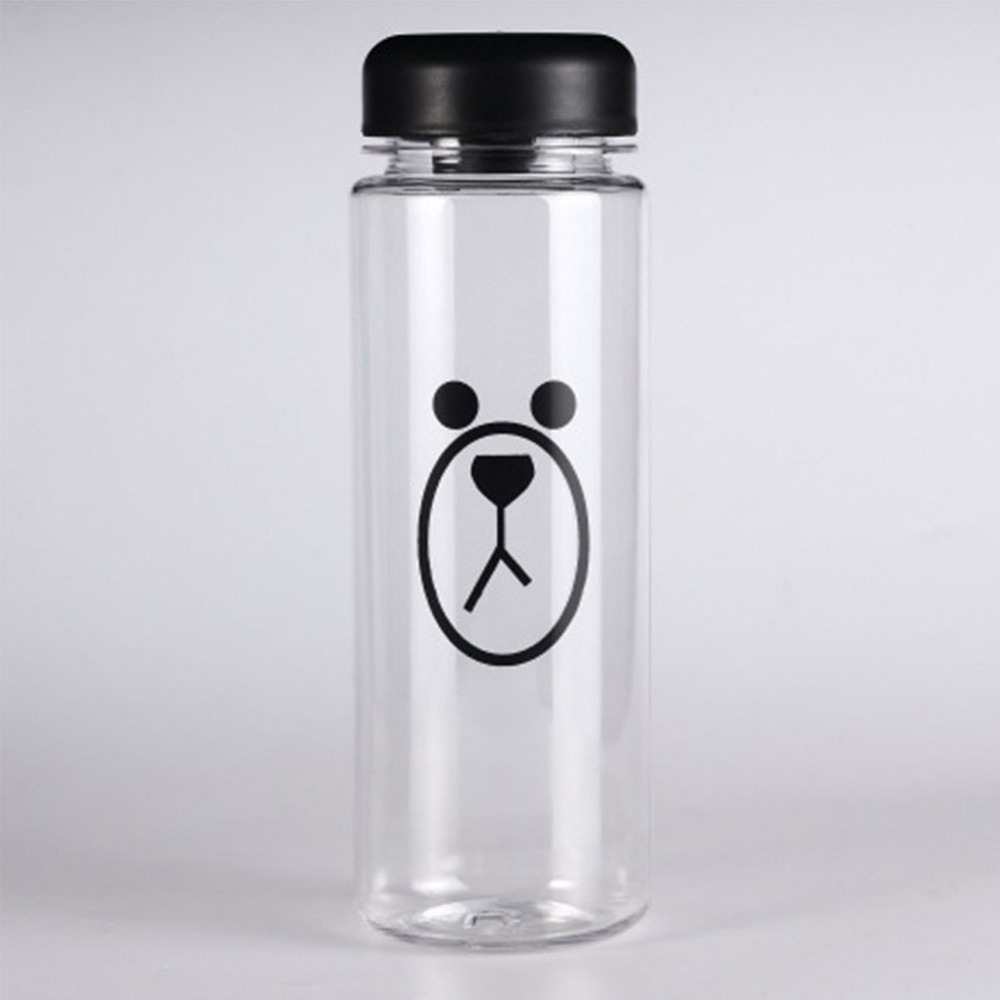Simple Style Juice Water Cup 500mL Portable Plastic Little Bear Little Pig Pattern Cup Juice Water Cup Top Quality Water Bottle(China (Mainland))