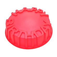 Kitchen Accessories Round Baking Cake Pan Mold Happy Birthday Letters Embossing Craft DIY Decorating Pastry Tool(China (Mainland))