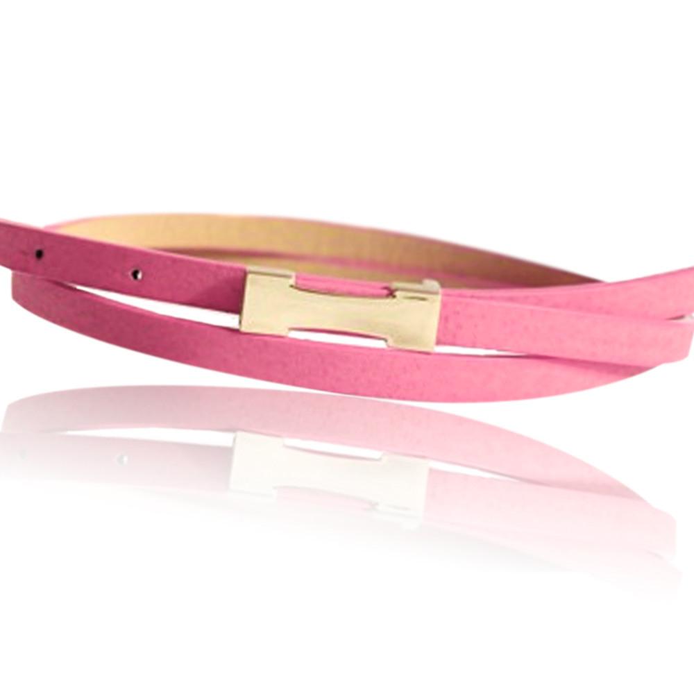 2015Hot Fashion Metal Buckle Women's Pigskin Leather /PU Thin Belt Waistband Female Straps Ladies Cummerbund Free Shipping 1005(China (Mainland))