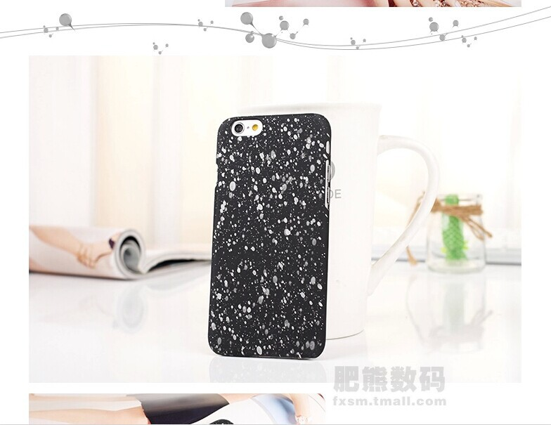 New Three-dimensional Stars Ultra thin Frosted Phone Case for iPhone 6 Cell Phone Smart Phone(China (Mainland))